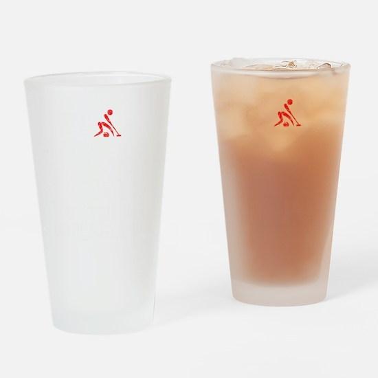Curling Thing -dark Drinking Glass