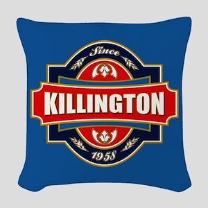 Killington Old Label Woven Throw Pillow