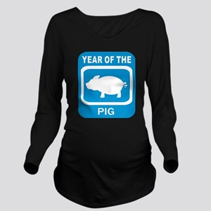 Year Of The Pig Long Sleeve Maternity T-Shirt
