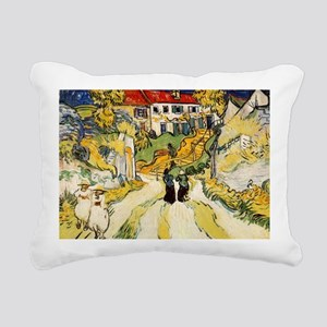 Stairway at Auvers Rectangular Canvas Pillow