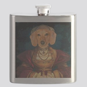 med evil lady tiger 16x16 fixed Flask