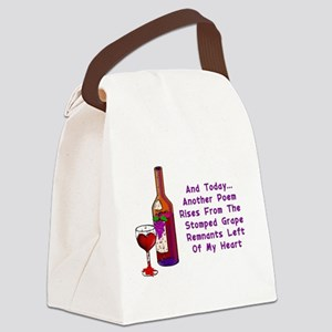 Wine and Poetry Canvas Lunch Bag