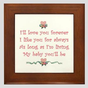 I'll love you forever Framed Tile