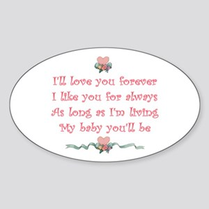 I'll love you forever Oval Sticker