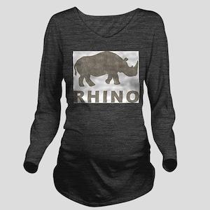 Vintage Rhino Long Sleeve Maternity T-Shirt