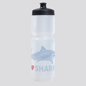 I Love Sharks Sports Bottle