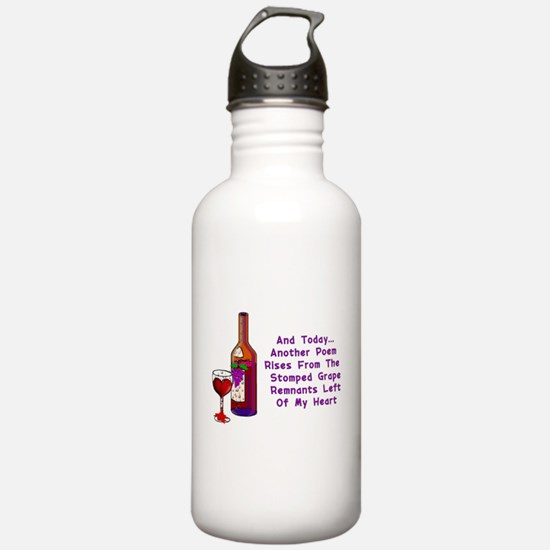 Wine and Poetry Water Bottle