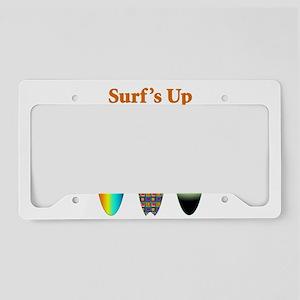 Surfs Up License Plate Holder