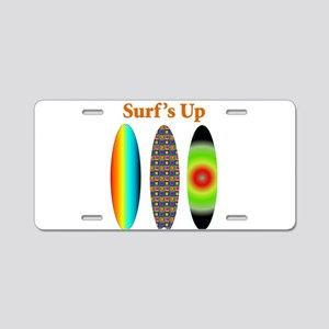 surfsup Aluminum License Plate