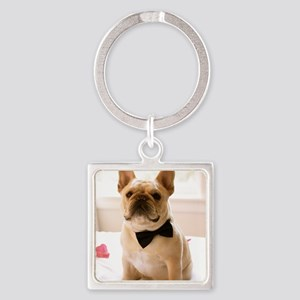 Dressed to the Nines Square Keychain