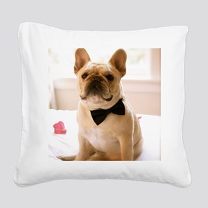 Dressed to the Nines Square Canvas Pillow