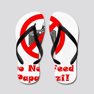 Do Not Feed Paparazzi Red Flip Flops