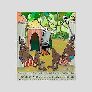 2-7713_anthropology_cartoon Throw Blanket