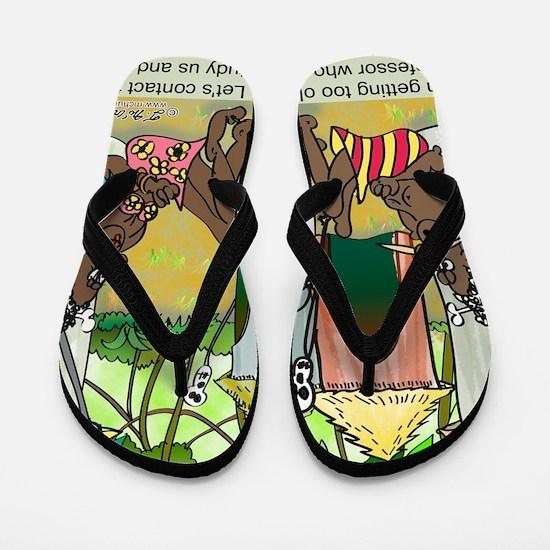 2-7713_anthropology_cartoon Flip Flops
