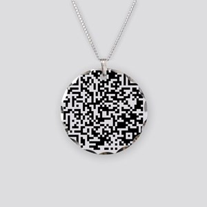 QR Necklace Circle Charm