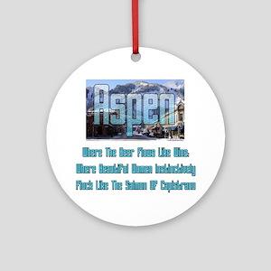 Aspen Round Ornament