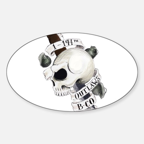 Cute Military knife Sticker (Oval)