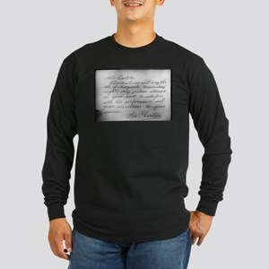 Phantom Note to Carlotta Long Sleeve Dark T-Shirt