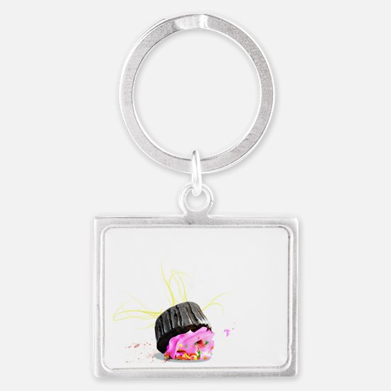 I dropped my cupcake UPDATED co Landscape Keychain