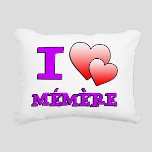 I Love Memere Fench Gran Rectangular Canvas Pillow