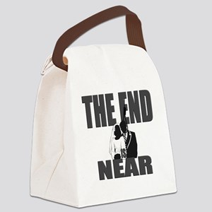 END IS NEAR  Canvas Lunch Bag