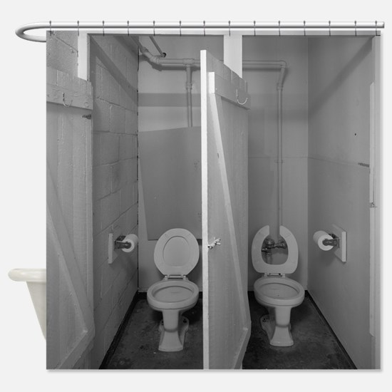 Study Of Two Toilets Shower Curtain