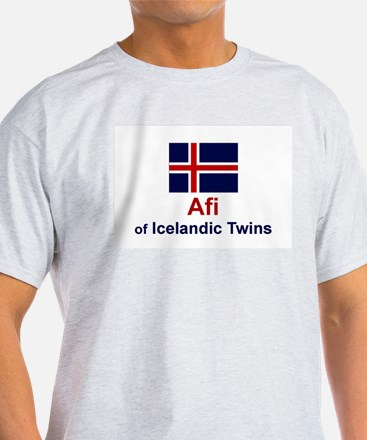 Icelandic Twins-Afi (Grandfather) Ash Grey T-Shirt