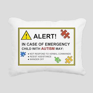 autism warning for car Rectangular Canvas Pillow