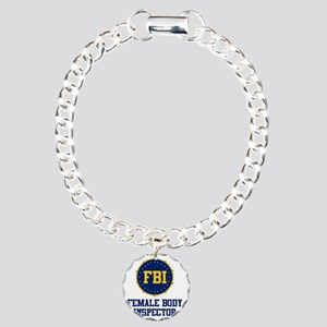 FBI Female Body Inspecto Charm Bracelet, One Charm