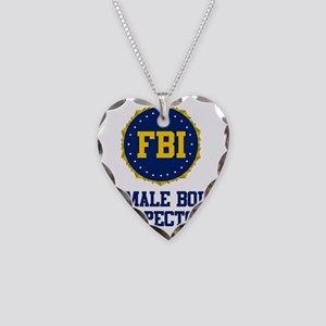 FBI Female Body Inspector Necklace Heart Charm