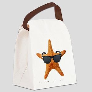 PCStarfishBIGBlack Canvas Lunch Bag