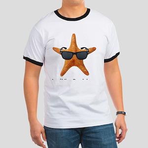 PCStarfishBIGBlack Ringer T