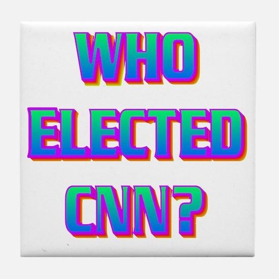 WHO ELECTED CNN(white).gif Tile Coaster