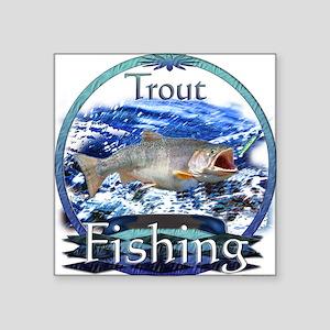 "Trout fishing Square Sticker 3"" x 3"""