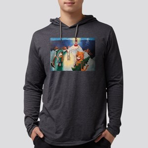 Lighthouse at Night Cats Long Sleeve T-Shirt