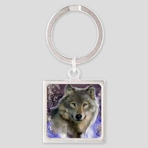 wolf 12x9 Square Keychain