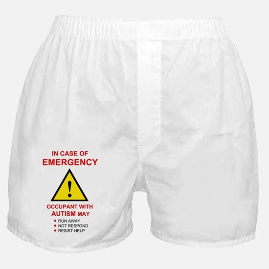 autism warning for home Boxer Shorts