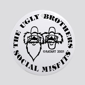 ugly bros logo Round Ornament