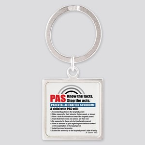 PAS-know facts Square Keychain