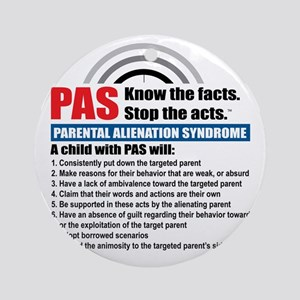 PAS-know facts Round Ornament