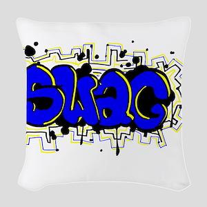 bissett Swag graffiti Woven Throw Pillow