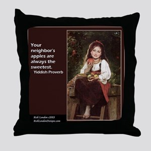 Famous Yiddish Saying Throw Pillow