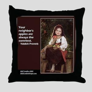 Famous Yiddish Saying Throw Pillow