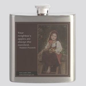 Famous Yiddish Saying Flask