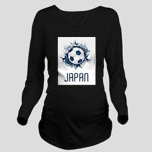 Japan Football Long Sleeve Maternity T-Shirt