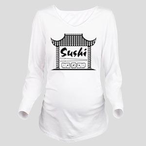 Sushi Long Sleeve Maternity T-Shirt