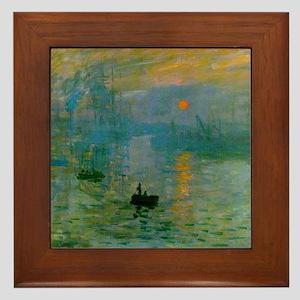 Impression, Sunrise Framed Tile