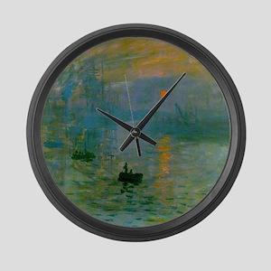 Impression, Sunrise Large Wall Clock