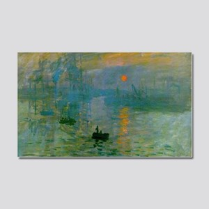Impression, Sunrise Car Magnet 20 x 12