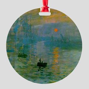 Impression, Sunrise Round Ornament